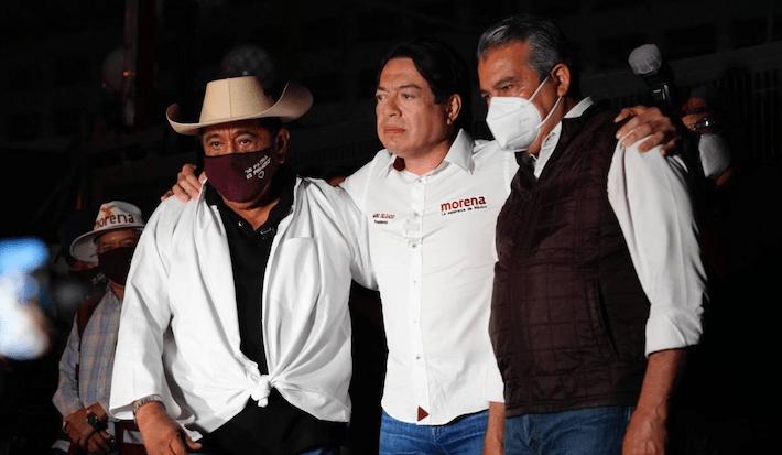 Mario Delgado, Félix Salgado y Raúl Morón