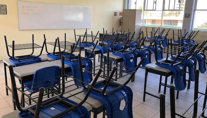 Salón de clases durante pandemia