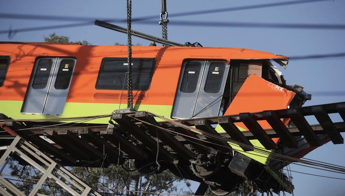 Derrumbe Línea 12 STCMetro