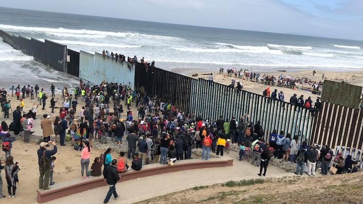 Cruce de migrantes hacia Estados Unidos