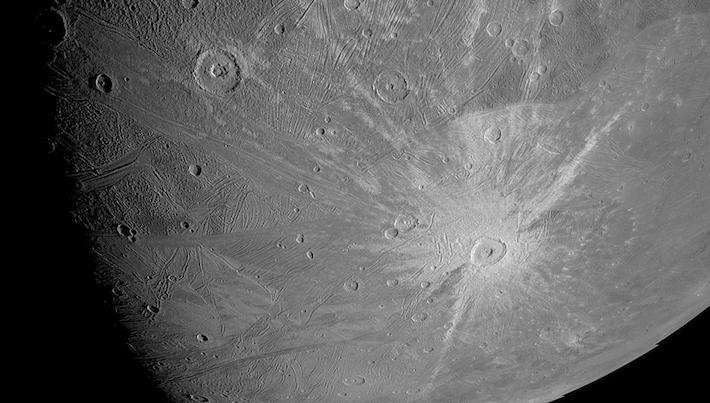 Giant moon Ganymede.