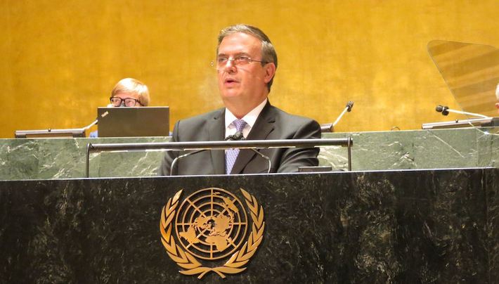 ONU Marcelo Ebrard -